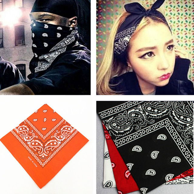 21color Women Men Outdoor Sports Bandana Scarf Headwear Face Mask Riding Camping Cycling Headscarf Tube Wristband Headband Cool