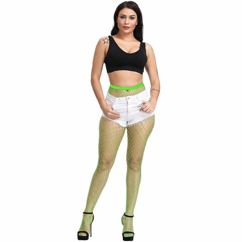 Женские, сексуальные, прозрачные тонкие ажурные колготки Клубные вечерние женские мягкие колготки сетчатые отверстия черное нижнее белье прозрачное эротическое боди