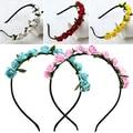 2016 Rose Flower Crown Festival Headband Wedding Garland Floral Hairband Accessory