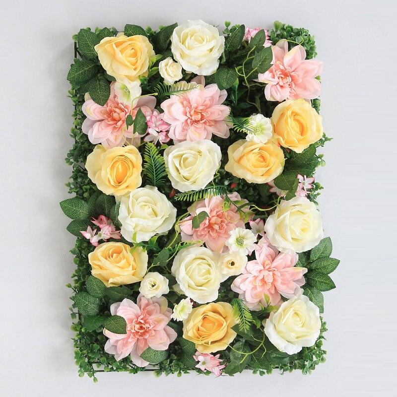 Livraison Gratuite Pivoine Artificielle Fleur Fond Mur Décoration Boutique Publicité Mur Rose Soie Faux fleur
