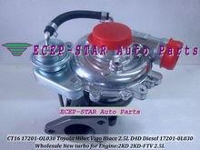 CT16 17201-OL030 17201-0L030 Turbo Turbocharger For TOYOTA Hilux Vigo Hiace Hi-lux Hi-ace 01- 2.5L D4D 2KD 2KD-FTV 2KDFTV 102HP