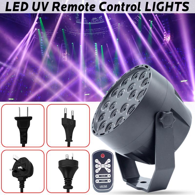 UV Led Stage Light Black Light Par Light With Remote Sound Active 18 LEDs Auto DMX Spotlight Lamp For Disco DJ Club Show pro svet light psl led uv 18 dmx