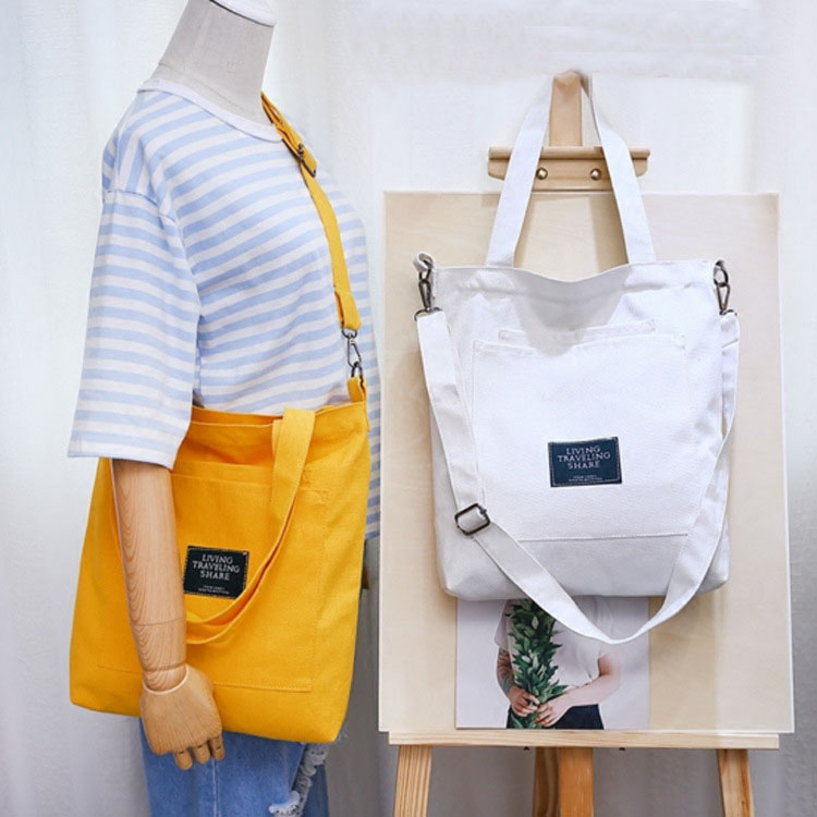 Cotton Canvas Handbag Mini Single Shoulder Bag Messenger Bags Bucket Bag Book Girl