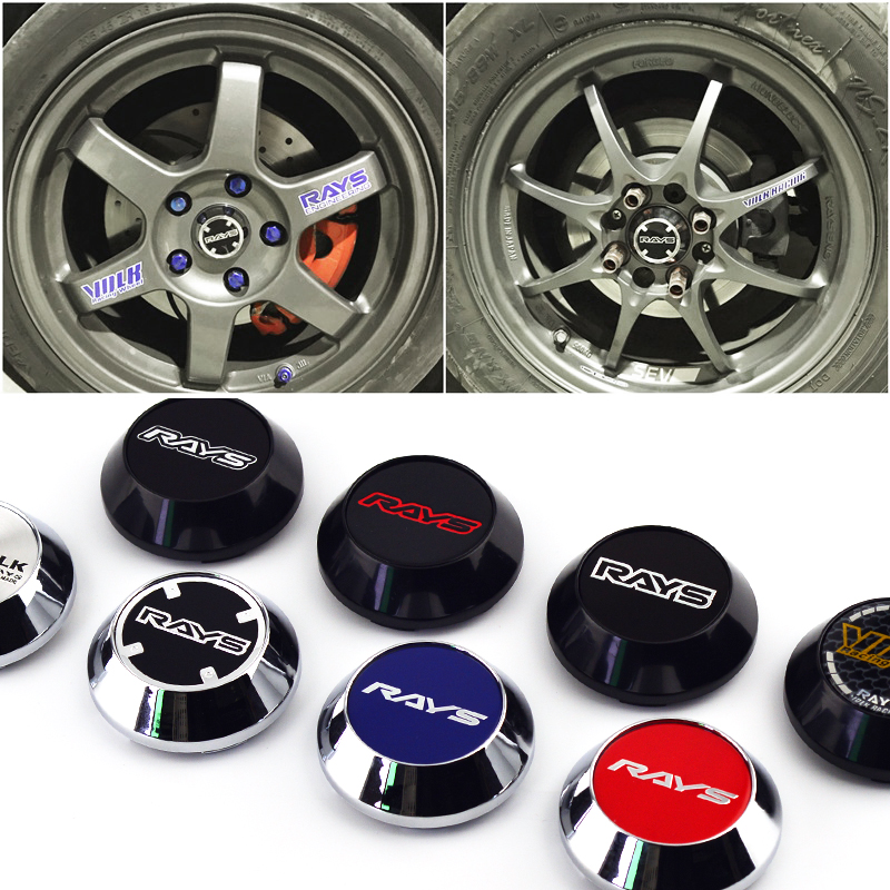 Image 3 - 4 Pcs RAYS Wheel Center Badge Hub Cap Rim Cover 65mm Perfectly Fit for Rays VOLK Racing TE37 CE28N Rims-in Wheel Center Caps from Automobiles & Motorcycles