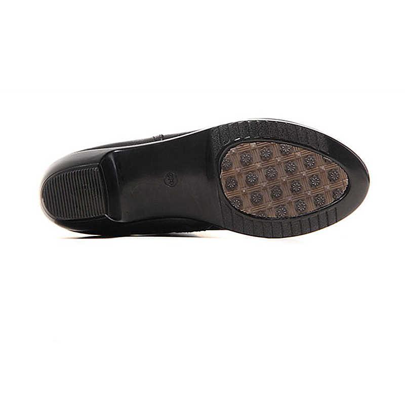 DONGNANFENG/Женская обувь для мам, женская обувь, ботинки на молнии, зимняя теплая плюшевая обувь на меху, коровья кожа, натуральная телячья кожа, размер 35-43, JFML-5222