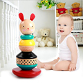 Montessori Baby Toys For Children Toys Enlightenment Shake A Set Of Tower Stacking Tower This Infant Toy Rabbit Christmas Gifts