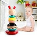 Montessori Brinquedos Para As Crianças Brinquedos Do Bebê Iluminismo Agitar Um Conjunto De Torre de Empilhamento Torre Este Brinquedo Infantil Coelho Presentes de Natal