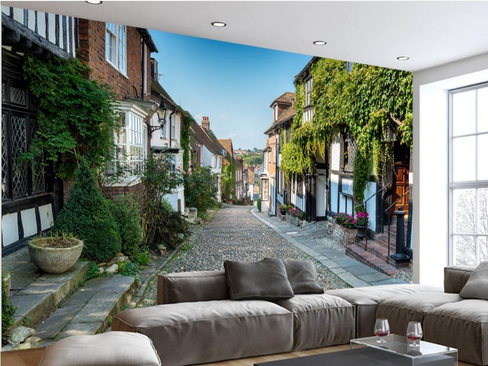 Beautiful Living Room Wallpaper Part - 31: Aliexpress.com : Buy Fashion 3D Home Decor Beautiful European Street Town  Of European Style Landscape Wallpaper Modern Living Room Wallpapers From  Reliable ...