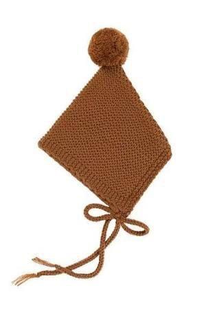 BomHCS Baby Boy Girl Ear Flap Hat Knitted Cap Handmade Beanie chanel boy flap bag
