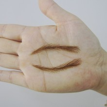 003 hand made human hair false eyebrow / fake eyebrows,permanent eyebrows,tattoos eyebrows