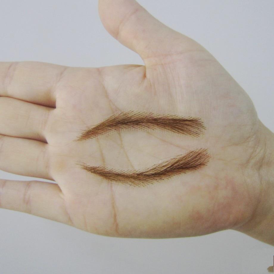 ФОТО 2017 Rushed Promotion Powder Makeup Sets Kit 003 Hand Made Human Hair False / Fake Eyebrows,permanent Eyebrows,tattoos Eyebrows