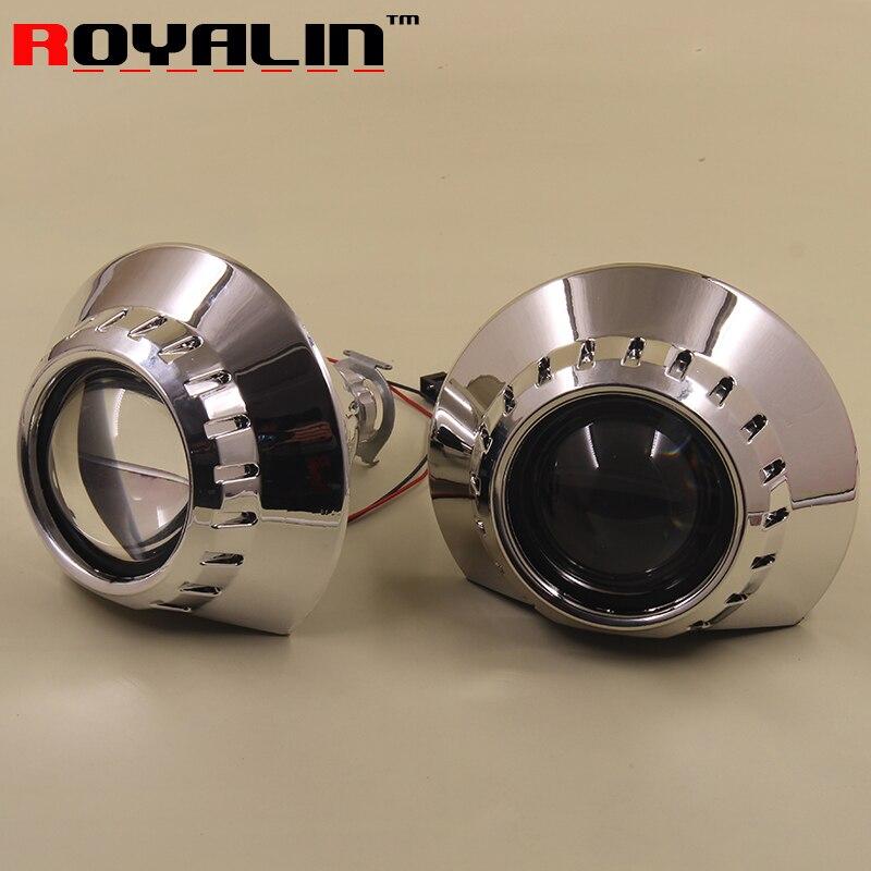 ФОТО 2.5 Bi Xenon H1 Projector Headlights Lens for BMW E46 E36 Sedan Coupe ZKW H4 H7 Car Styling External Lights Lenses Retrofit Lamp
