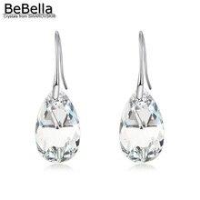 BeBella грушевидные висячие серьги с кристаллами Swarovski оригинальные модные ювелирные изделия для женщин и девушек Подарок