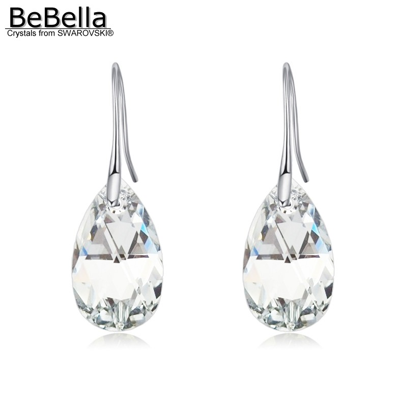 Us 8 7 15 Off Bebella Pear Shaped Water Drop Pendant Earrings With Crystals From Swarovski Original Fashion Jewelry For Women S Gift 2018 In