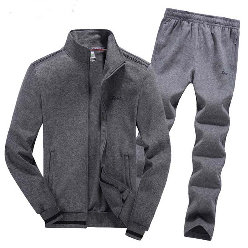 Mens Sportsuits Set Big Size 6XL 7XL 8XL Man Jogging Suits Knitted Fabrics Keep Warm Sport Gym Clothing Male Running Jogger Sets пеньюар и стринги brasiliana 6xl 7xl