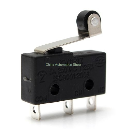 10PCS/lot 3pin All New Limit Switch N/O N/C 5A250VAC KW11-3Z Mini Micro Switch With Pulley