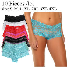 10Pcs/Pack Dispatch Randomly Womens Pants Sexy Lady Lace Panty Breathable Comfort Seamless Briefs Transparent Female Knickers