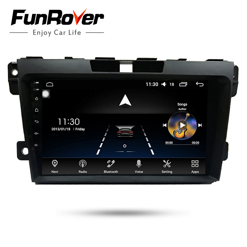 Funrover 8 Core 2G RAM Android8.0 2 din Car DVD Player For Mazda CX7 CX-7 Car Radio Stereo GPS Navigation Bluetooth Wifi usb FM funrover 9 hd quad core ram 2g android 8 0 car navigation gps player for suzuki sx4 2006 2013 wifi rds radio bt fm usb no dvd