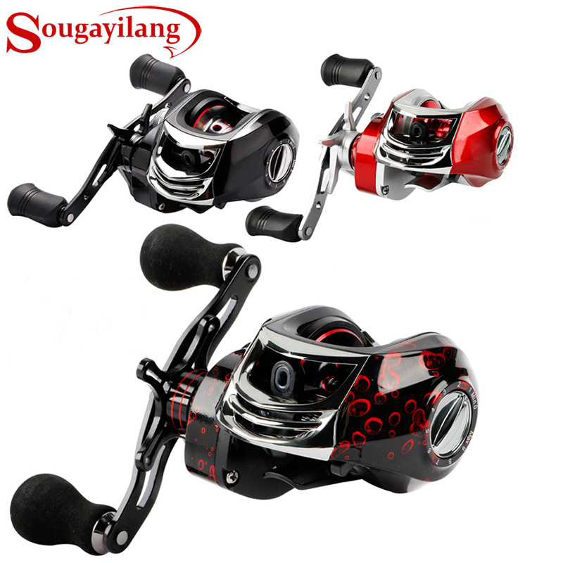 Sougayilang Baitcasting Fishing Reel -17+1 Bearings 7.2:1 Gear Ratio - Magnetic Tuned Dual Brakes -Ultra Light  Smooth PowerfulSougayilang Baitcasting Fishing Reel -17+1 Bearings 7.2:1 Gear Ratio - Magnetic Tuned Dual Brakes -Ultra Light  Smooth Powerful