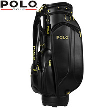 020491 Polo Genuine New Golf Club Bag Man Standard Ball Package High Quality Professional Leather PU Waterproof Golf CartBag