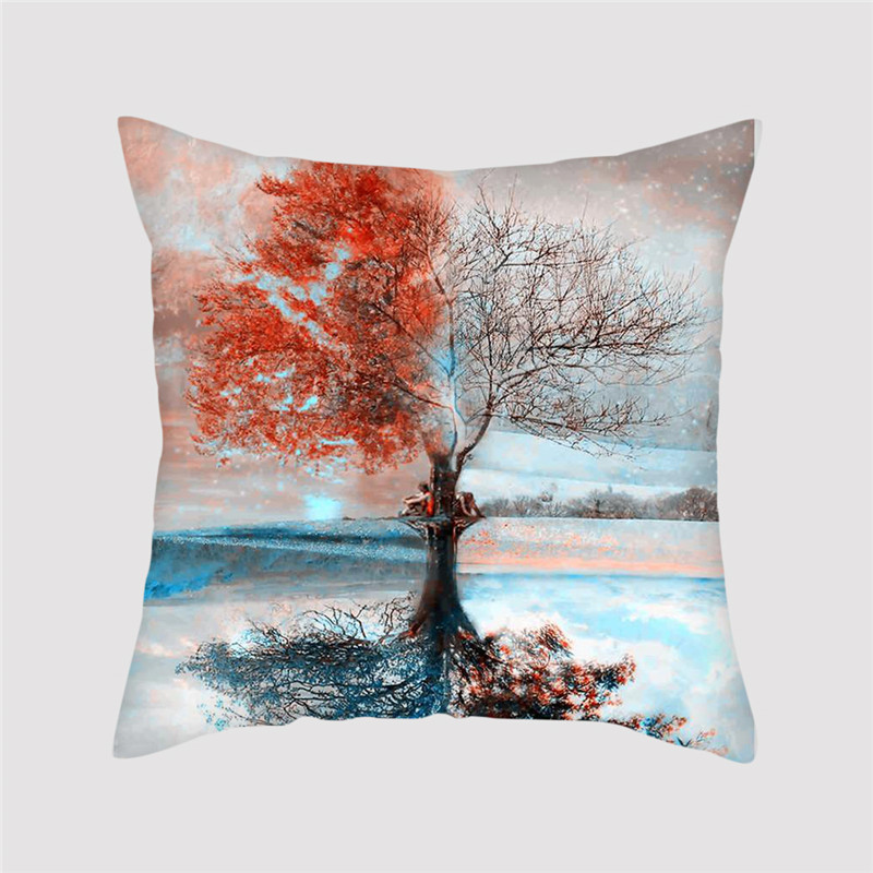 Fuwatacchi Scape Cushion Cover Plant Tree Flowers Scenery Pillowcase Home Decorative Pillows for Sofa Drop Shipping New