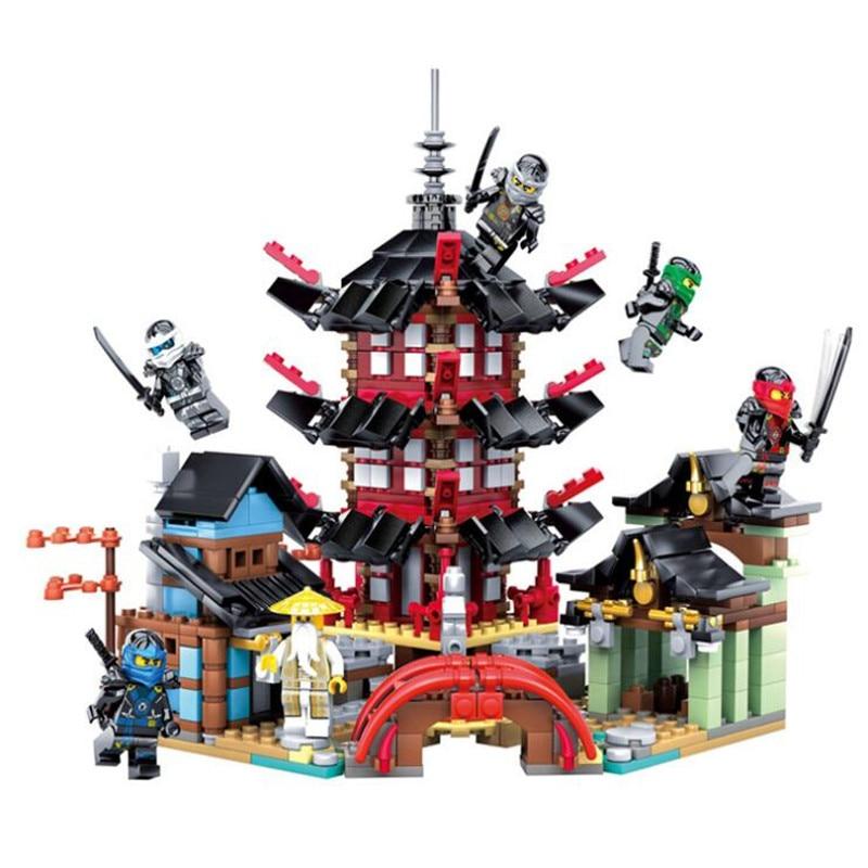 DIY Building Block Sets 737pcs Educational Toy  Ninjagoes Figure Children Gift