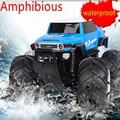 Радио карро Пульт Дистанционного Управления RC Автомобиль-Амфибия водонепроницаемый внедорожник для больших размеров шин Kid Toy Противоударные колеса багги