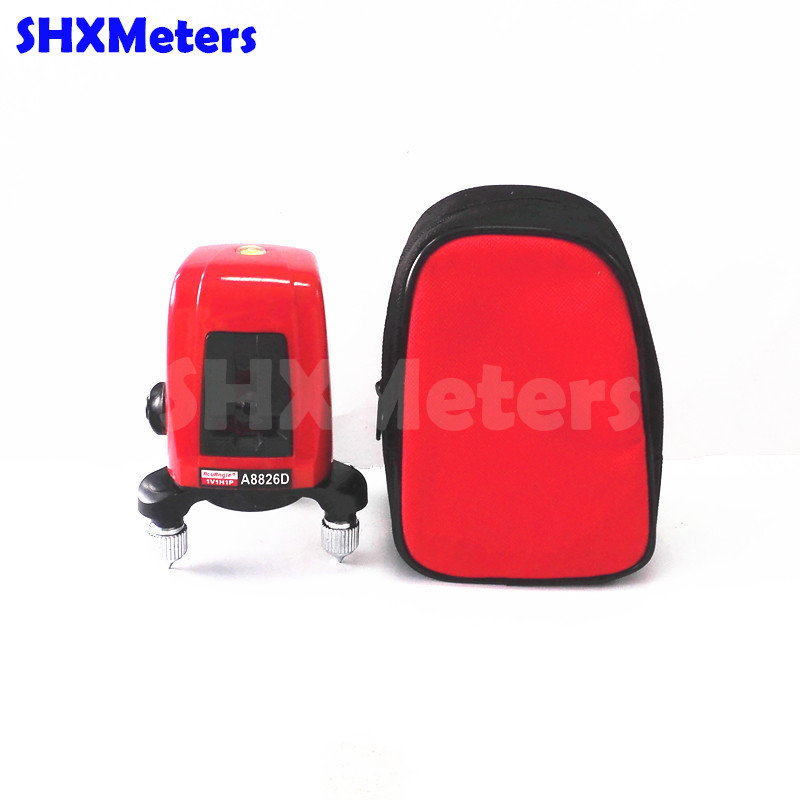 2017 Hot Sale Free Shipping A8826D 360 Degree Self- Leveling Cross Laser Level 1V1H Red 2 Line 1 Point free shipping wholesales laser 2 line lase level marker mouse se sl2