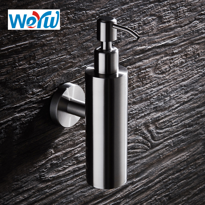 Stainless steel Liquid Soap Dispensers For Bathroom Kitchen circular Bottle Replacement Hand Liquid Soap Dispensers Spray k gold plating liquid soap soap liquid bottle washing liquid gold hand washing liquid bottle