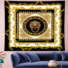 Court style retro Deconstruction panther Tapestry Vintage personality lion Tapestries Retro flower Wall Hanging home decor