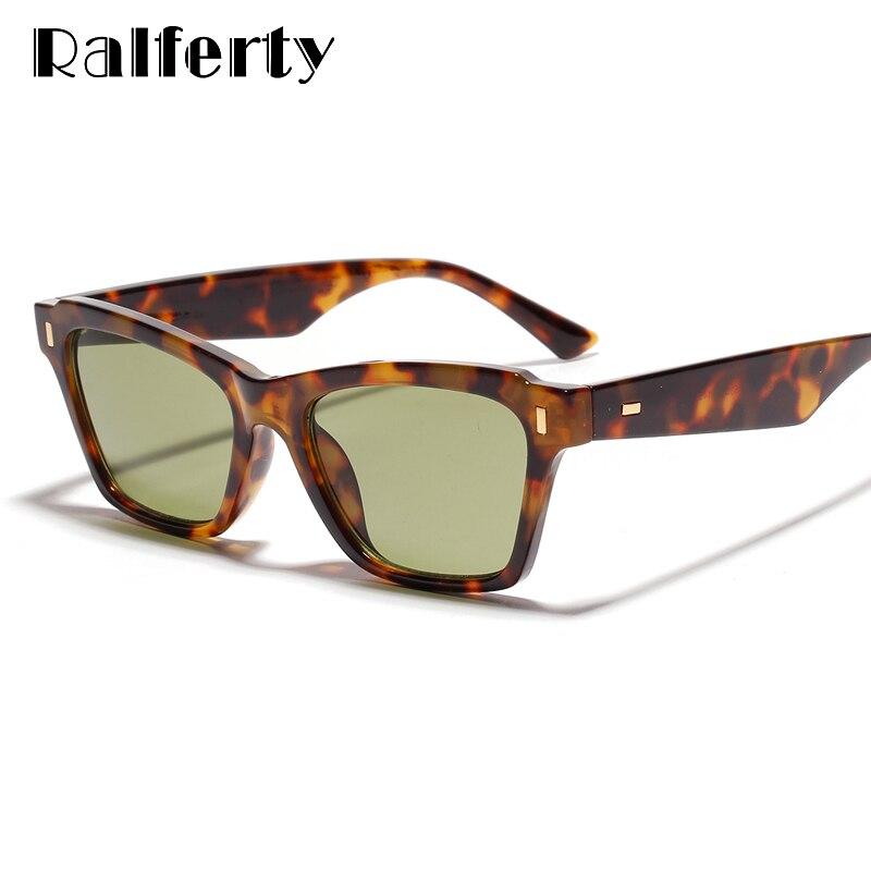 Ralferty Square Sunglasses Women 2019 Vintage Designer Tortoise Shades For Women Sun Glasses Female Male UV400 Eyewear W40058