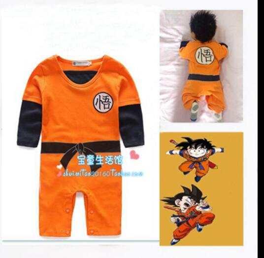 e0f3f290f651 Online Shop Dragon Ball Goku Baby Costume Newborn Infant Boy Clothes ...