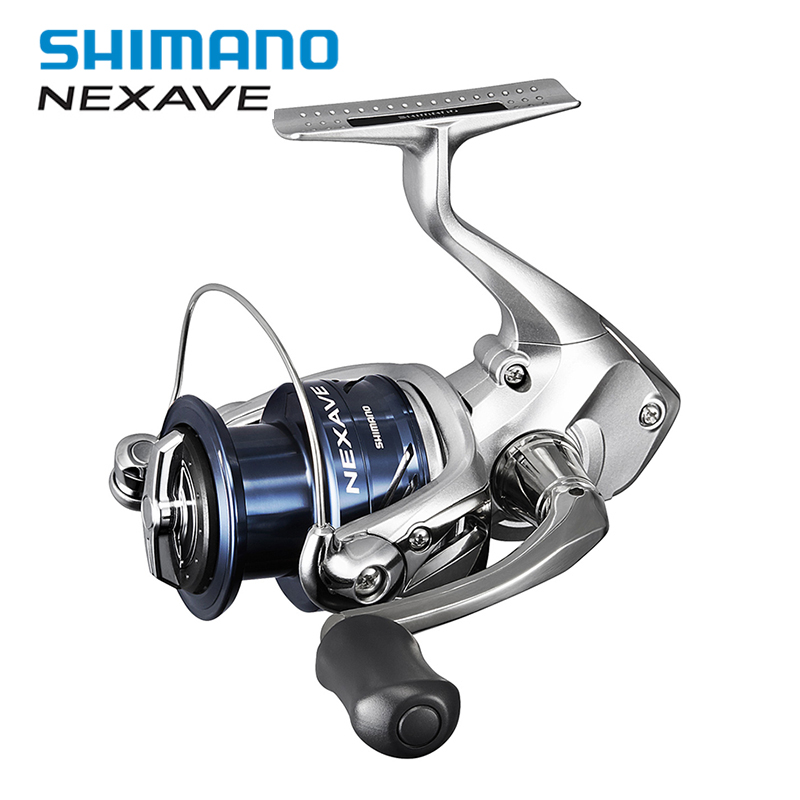 New Shimano NEXAVE 5.0:1 Spinning Fishing Reel ARC Spool Low Gear Ratio Front Drag 3+1BB Saltwater Carp Fishing Reel Accessories цена