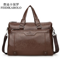 FEIDIKABOLO Luxury Brand Male Leather Bag Men Bags Men S Travel Bag Briefcase Crossbody Bags Business