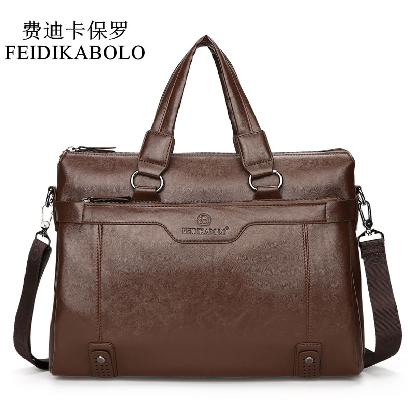 FEIDIKABOLO Luxury Brand Male Leather Bag Men Bags Men's Travel Bag Briefcase Crossbody Bags Business Handbags For Man Shoulderg