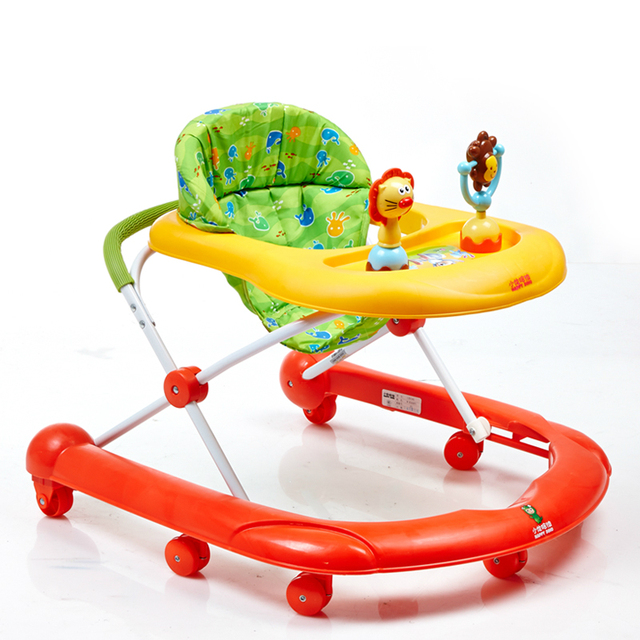 Venta caliente Niños Andador Multifuncional Juguetes Placa de U Tipo Plegable Fácil Anti-vuelco Andador Andadores Seguridad Paso coche