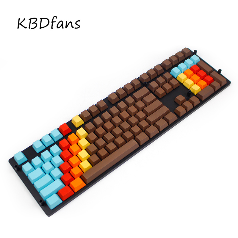 blank pbt keycap thick pbt caps 1976 oem profile rainbow keycaps disseminated for wried mechanical gaming keyboard filco ducky цена