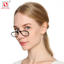 TR90 Clip Nose Resting Reading Glasses Mini Folding Round Optical Frame Wallet Reader +1.0 To +3.0 Portable With Key Chain Case