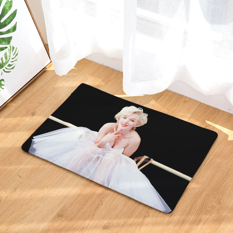 US $6.49 35% OFF decorUhome Hot Welcome Waterproof Floor Mat Marilyn Monroe  Kitchen Rugs Bedroom Carpets Decorative Stair Mats Home Decor Crafts-in ...