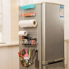 Lagerregal Küche zubehör Regal Küche veranstalter Prateleira mehrschichtige Kühlschrank Estante Kühlschrank seite Racks Seitenwand