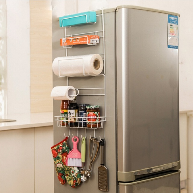 kitchen accesories remodel calculator storage rack accessories shelf organizer prateleira multi layer refrigerator estante fridge side racks sidewall