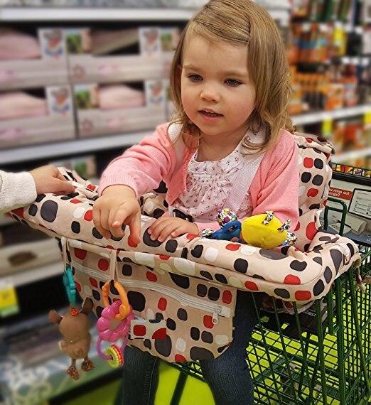 Тележка для продуктов чехол для детского сидения-ресторана высокий стул мягкие вставки Держатель для мальчиков, девочек, младенцев, малышей - Цвет: Red and no toys