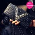 2016 Moda Feminina carteira cartão da carteira pacote de telefone saco de mão bolsa feminina longa seção do novo zipper das mulheres carteira