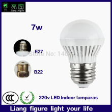 E27 B22 Led Bulb 7W LED indoor lamp 220V Cold white/Warm White Led Spotlight led living room bedroom lamp