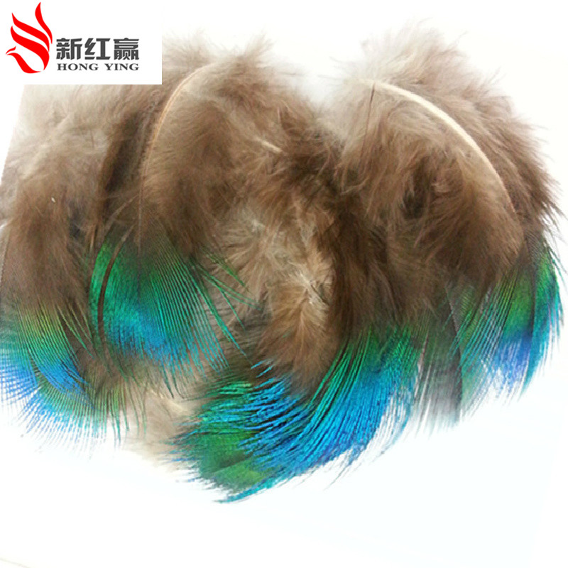 2016 50 pcs/lot 3-6cm length natural peacock blue feathers natural plume jewelry hair accessories