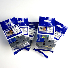 5 шт, смешанные цвета, tz лента для brother P-Touch 6 мм, 9 мм, 12 мм, 18 мм 24 мм tze-211 tze-221 tze-231 TZe-241 tze-251 черный на белом фоне