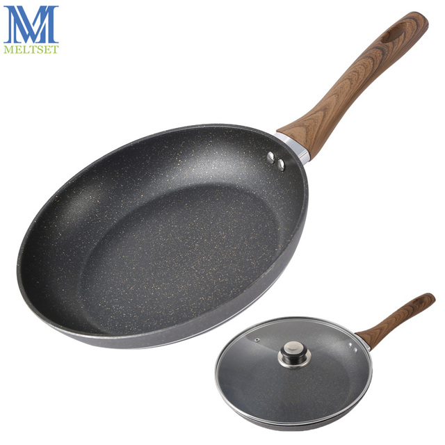 Sartén para freír MaifanStone de 26 cm, sartén para huevo antiadherente, mango de baquelita, utensilios de cocina, sartén de cocina de Gas con/sin tapa de vidrio