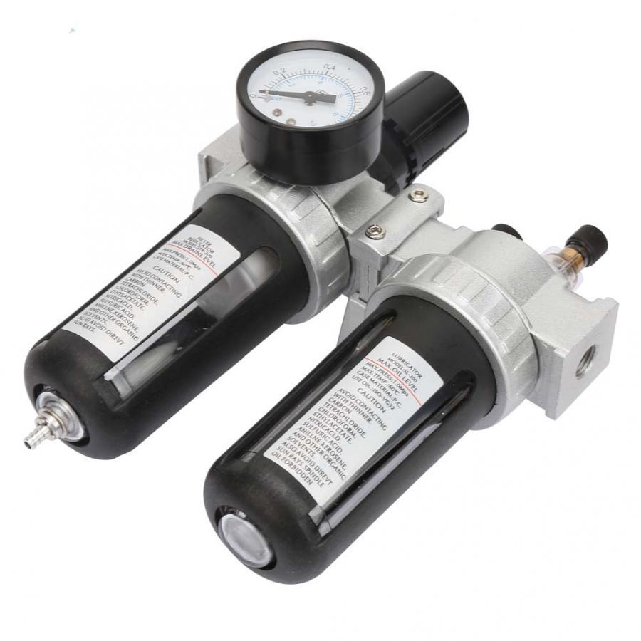 Pneumatic Fitting Fittings Pneumatic Alloy Air Filter Pressure Regulating Filter Regulator SFC200 1/4 inch Filter Regulators