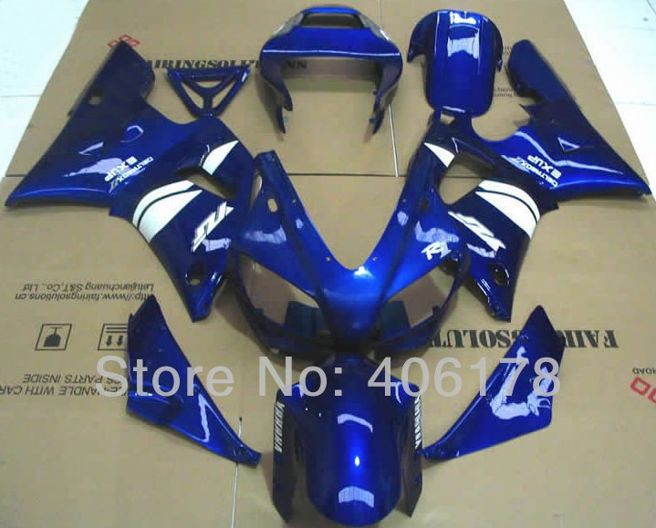 Sıcak Satış, Ucuz 98 99 YZF1000R1 body kit Yamaha Yzf R1 1998 1999 Yarış Motosiklet Mavi Grenaj Için (Enjeksiyon)
