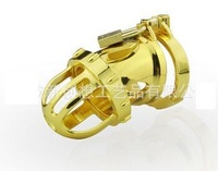 2016 New design Local tyrants gold CB6000S male chastity chastity belt device JJ locked 24 k gold plated penis rings sex toys